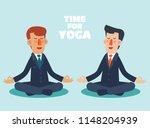 businessman meditates in lotus...   Shutterstock .eps vector #1148204939