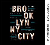 brooklyn cool graphic... | Shutterstock .eps vector #1148205503