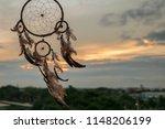 dream catcher on the sunset... | Shutterstock . vector #1148206199