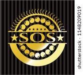sos gold emblem | Shutterstock .eps vector #1148209019