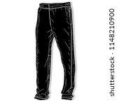sport trousers. sport pants...   Shutterstock .eps vector #1148210900