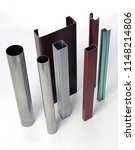 group of steel square rectangle ... | Shutterstock . vector #1148214806