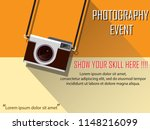 photography event concept for... | Shutterstock .eps vector #1148216099