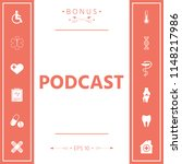 podcast   icon for web and... | Shutterstock .eps vector #1148217986