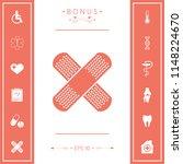 cross adhesive bandage  medical ... | Shutterstock .eps vector #1148224670