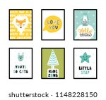 colorful childish vector cards... | Shutterstock .eps vector #1148228150