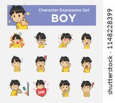 boy character illustration with ... | Shutterstock .eps vector #1148228399