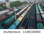 railway station with lots of... | Shutterstock . vector #1148230850