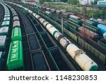 railway station with lots of... | Shutterstock . vector #1148230853