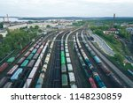 railway station with lots of... | Shutterstock . vector #1148230859