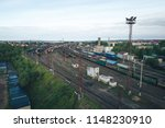 railway station with lots of... | Shutterstock . vector #1148230910