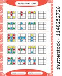 repeat pattern. square with... | Shutterstock .eps vector #1148252726