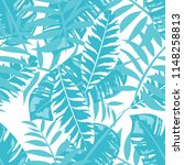 tropical seamless pattern with... | Shutterstock .eps vector #1148258813