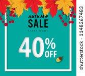 autumn sale banner background ... | Shutterstock .eps vector #1148267483