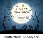 blue grungy halloween... | Shutterstock .eps vector #114827470