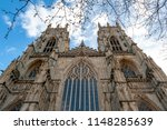 elaborate tracery on exterior... | Shutterstock . vector #1148285639