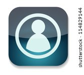 a vector icon with man inside | Shutterstock .eps vector #114829144