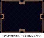 art deco frame. vintage linear... | Shutterstock .eps vector #1148293790