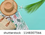 summer pants with floral... | Shutterstock . vector #1148307566