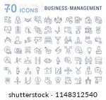 set of vector line icons of... | Shutterstock .eps vector #1148312540