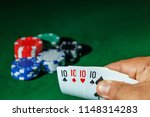 casino games concept poker... | Shutterstock . vector #1148314283