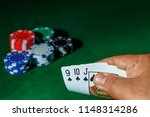 casino games concept poker... | Shutterstock . vector #1148314286