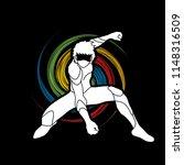 superhero landing action ...   Shutterstock .eps vector #1148316509