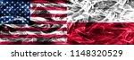 united states vs poland smoke...   Shutterstock . vector #1148320529
