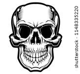 skull. vector illustration. | Shutterstock .eps vector #1148335220