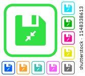 compress file vivid colored... | Shutterstock .eps vector #1148338613