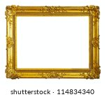 gold picture frame. isolated... | Shutterstock . vector #114834340