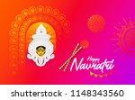 navratri festival background... | Shutterstock .eps vector #1148343560