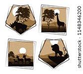 set of wild african animals | Shutterstock .eps vector #1148346200