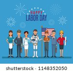 happy labor day card | Shutterstock .eps vector #1148352050