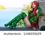 portrait of sexy super hero...   Shutterstock . vector #1148355659