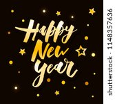 happy new year vector gradient... | Shutterstock .eps vector #1148357636