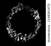 wreath of musical notes. modern ...   Shutterstock .eps vector #1148361473
