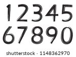 set of grunge numbers.vector... | Shutterstock .eps vector #1148362970