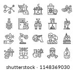 set of 20 icons such as sprout  ... | Shutterstock .eps vector #1148369030