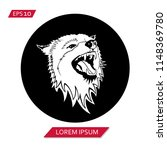 wolf vector icon symbol | Shutterstock .eps vector #1148369780