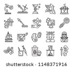 set of 20 icons such as... | Shutterstock .eps vector #1148371916