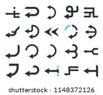 set of 20 simple editable icons ... | Shutterstock .eps vector #1148372126