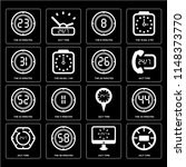 set of 16 icons such as 24 7...   Shutterstock .eps vector #1148373770