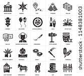 set of 25 icons such as golden...