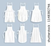 white kitchen aprons of... | Shutterstock .eps vector #1148382746