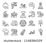 set of 20 icons such as rain ...