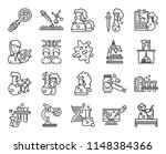 set of 20 icons such as flasks  ... | Shutterstock .eps vector #1148384366