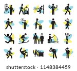set of 20 simple editable icons ... | Shutterstock .eps vector #1148384459