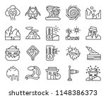 set of 20 icons such as snowing ...