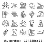set of 20 icons such as flood ...